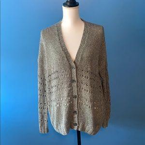 Vince women's Grey Cardigan Sweater size Medium